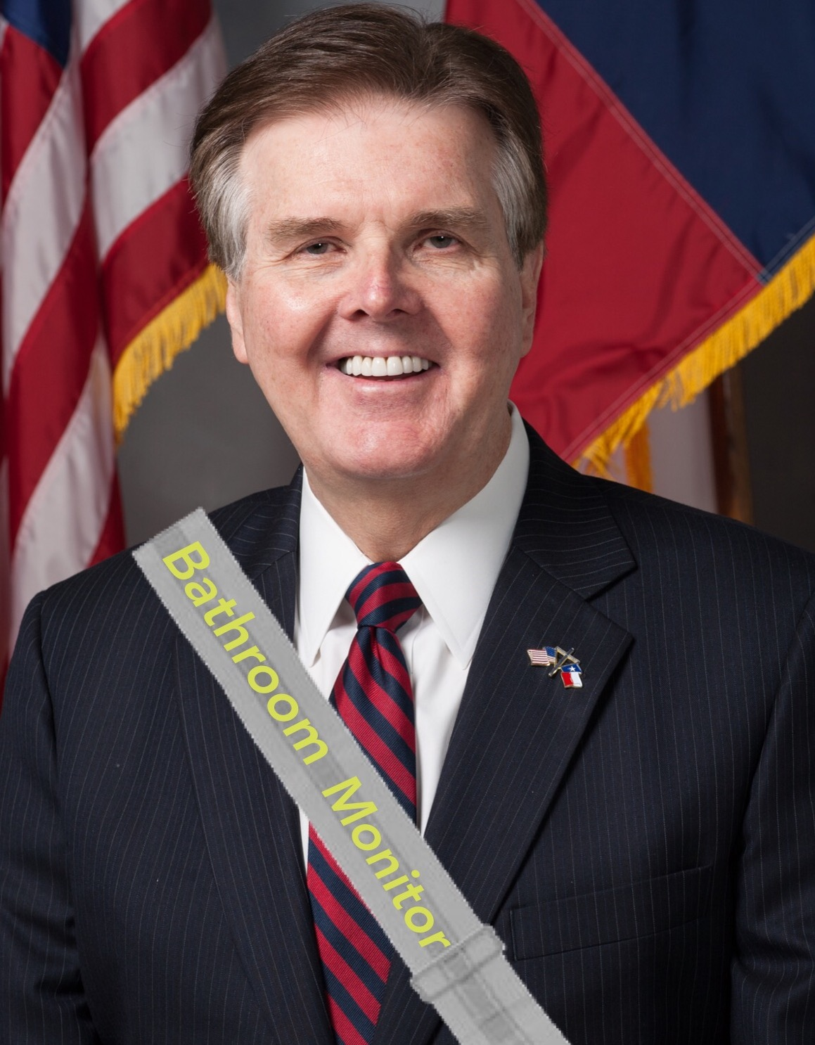 Lt Governor Dan Patrick wants to be the bathroom monitor for Texas and he doesn't gave who he has to kill to get the job.